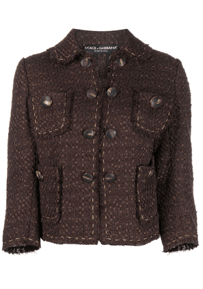 Dolce & Gabbana tweed jacket - Brown