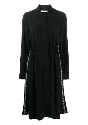 Calvin Klein Jeans logo shirt dress - Black