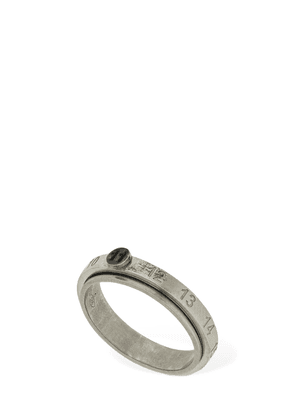 Embossed 11 Logo Thin Ring