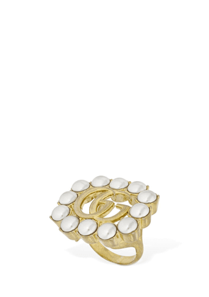 Gg Marmont Imitation Pearl Thick Ring