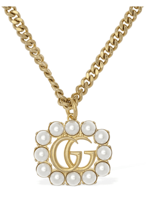 Gg Marmont Imitation Pearl Necklace