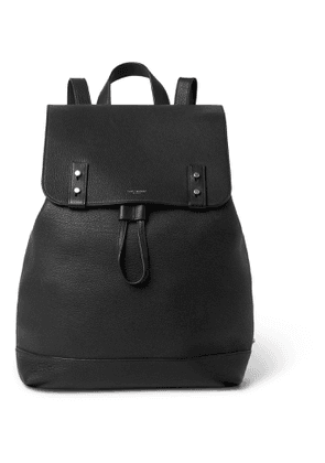 SAINT LAURENT - Full-Grain Leather Backpack - Men - Black
