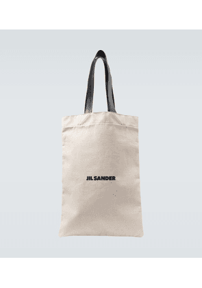 Grand logo flat shopper bag