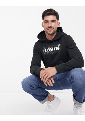 Levi's graphic hoodie in mineral black