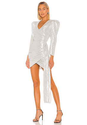 Atoir The Luna Dress in Metallic Silver. Size S.
