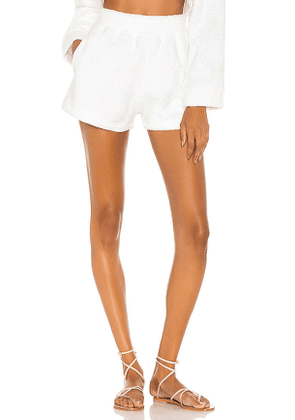 The Bar Zi Short in White. Size M,S,XS.