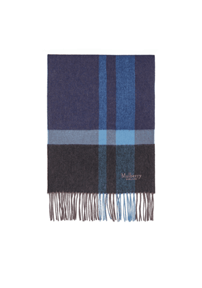 Mulberry Cashmere Blend Scarf - Midnight