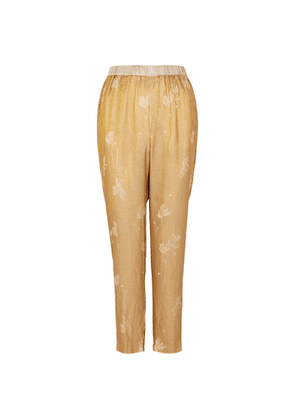 Forte forte Metallic-weave Jacquard Trousers