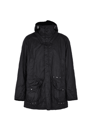 Barbour Supa-Beaufort Navy Waxed Cotton Jacket