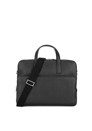 BOSS Crosstown Black Leather Briefcase