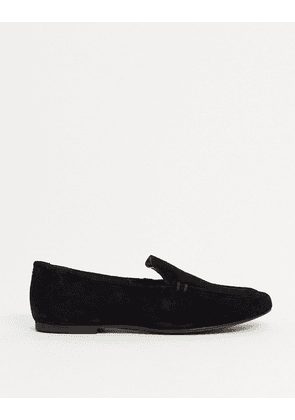 ASOS DESIGN Mouse suede loafers in black