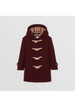 Burberry Childrens Double-faced Wool Duffle Coat, Red