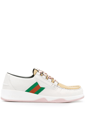 Gucci hybrid lace-up shoes - White