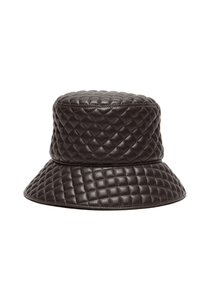 Quilty' leather bucket hat