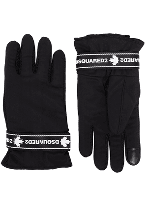 Dsquared2 logo tape gloves - Black
