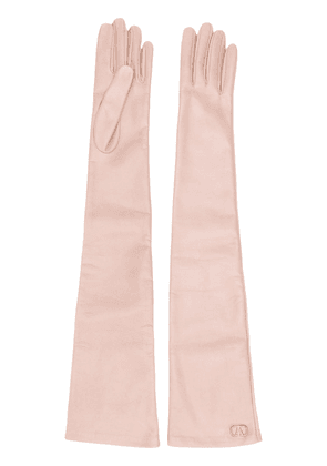 Valentino Garavani VLOGO long gloves - Neutrals