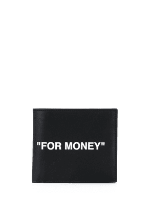 Off-White slogan-print wallet - Black
