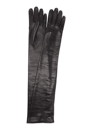 Valentino Long Leather Gloves
