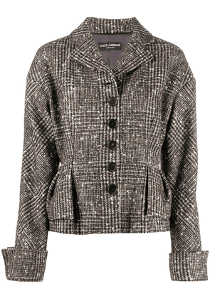 Dolce & Gabbana fitted check jacket - Brown