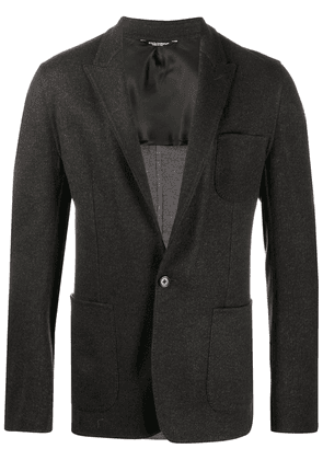 Dolce & Gabbana single-breasted virgin wool blazer - Grey