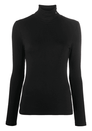 Calvin Klein Jeans roll-neck fitted jumper - Black