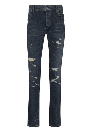 Balmain distressed-effect slim-fit jeans - Blue