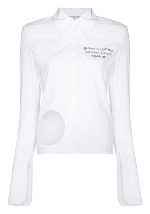 Off-White cut-out long-sleeve shirt