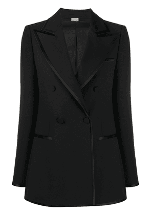 Gucci double-breasted contrast-trim blazer - Black