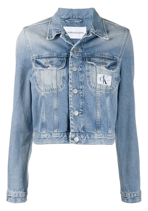 Calvin Klein Jeans stonewashed cropped denim jacket - Blue