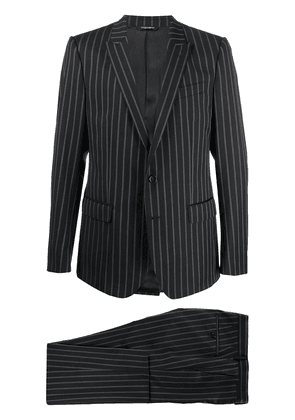 Dolce & Gabbana pinstriped tailored suit - Black