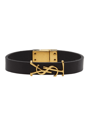 Saint Laurent Black and Gold Opyum Bracelet