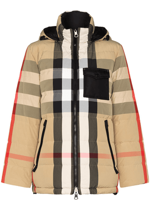Burberry Vintage Check reversible puffer jacket - Brown