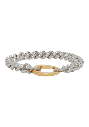 Laura Lombardi SSENSE Exclusive Silver and Gold Presa Bracelet
