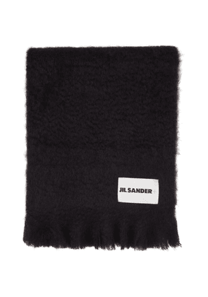 Jil Sander Navy Mohair and Wool Scarf