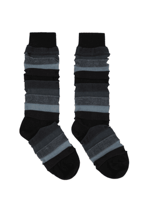 Issey Miyake Men Black Short Stepborder Socks