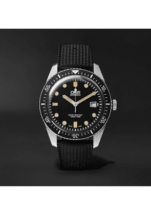 Oris - Divers Sixty-Five Automatic 42mm Stainless Steel and Rubber Watch, Ref. No. 01 733 7720 4054 - Men - Black