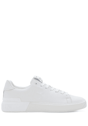 Embossed Bcourt Leather Low Top Sneakers