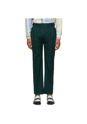 Charles Jeffrey Loverboy Green Slim Martini Trousers