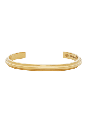 All Blues Gold Polished T Beam Bracelet