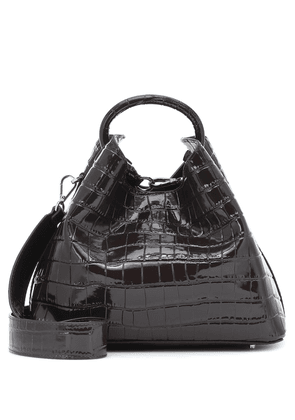 Raisin croc-effect shoulder bag