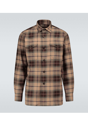 Checked long-sleeved shirt