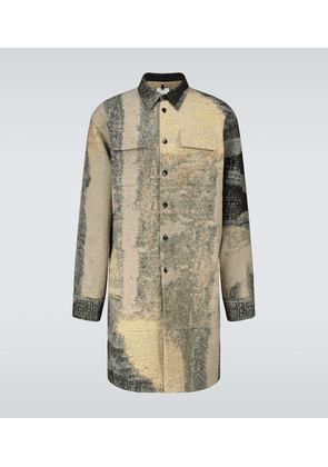 Jacquard long-length overshirt