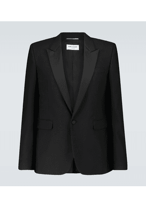 Single-breasted tuxedo blazer