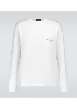 Cotton jersey long-sleeved T-shirt