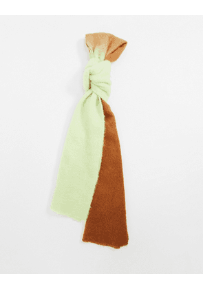 ASOS DESIGN wool mix ombre scarf in green and brown-Multi
