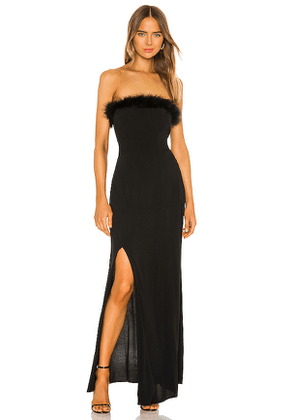 FLYNN SKYE Brielle Maxi in Black. Size XS.