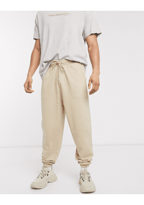 ASOS DESIGN co-ord organic oversized jogger in beige