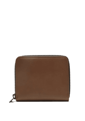 Maison Margiela - Contrasting Zipped Leather Wallet - Mens - Brown