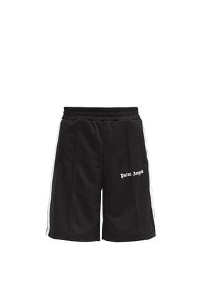 Palm Angels - Logo-print Jersey Shorts - Mens - Black