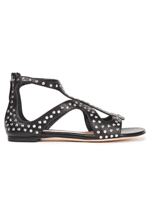 Alexander Mcqueen Studded Leather Sandals Woman Black Size 34